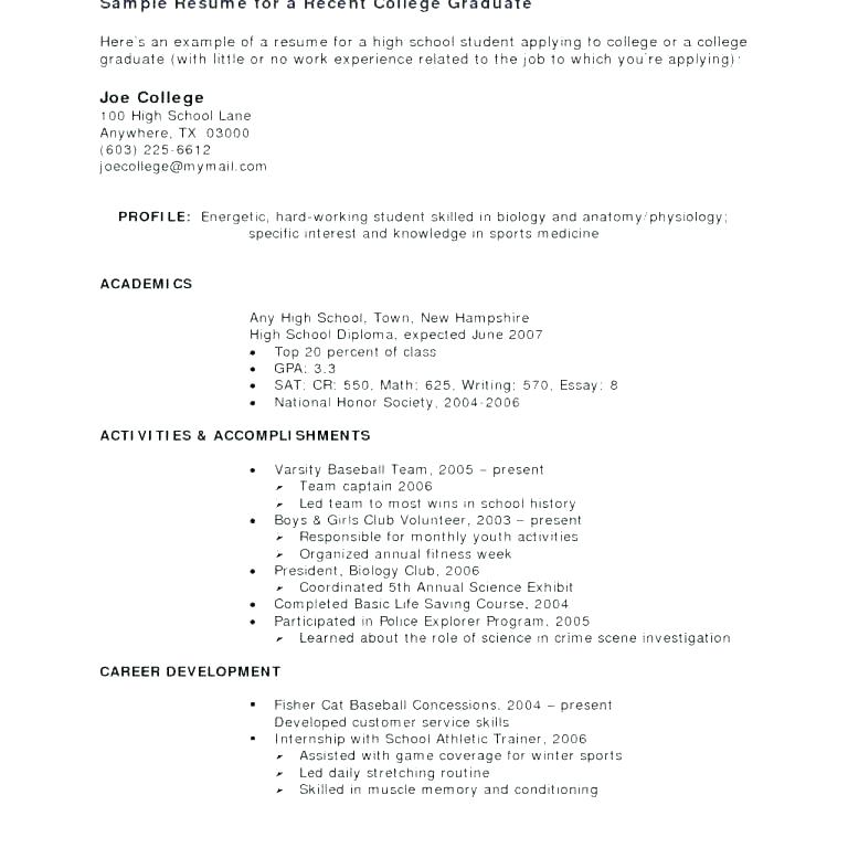 sample resume college student no experience sap entry level secretary career objective cv Resume Resume With No Work Experience College Student Template