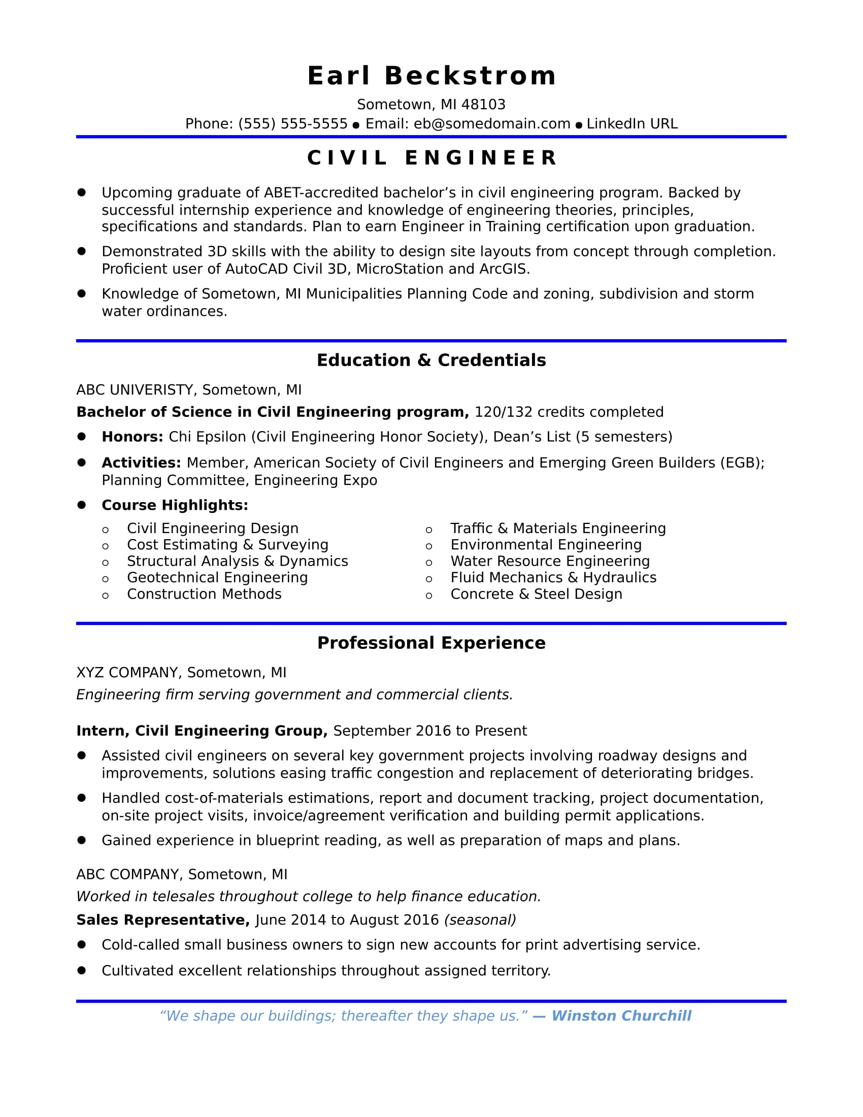 sample resume for an entry level civil engineer monster summary excellent career Resume Civil Engineer Resume Summary