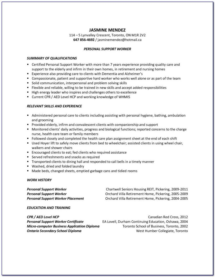 sample resume for driving job vincegray2014 psw qualifications parser free api indeed Resume Personal Support Worker Skills Resume