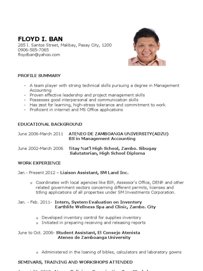 sample resume for fresh graduates further education business example of best graduate Resume Example Of Best Resume For Fresh Graduate