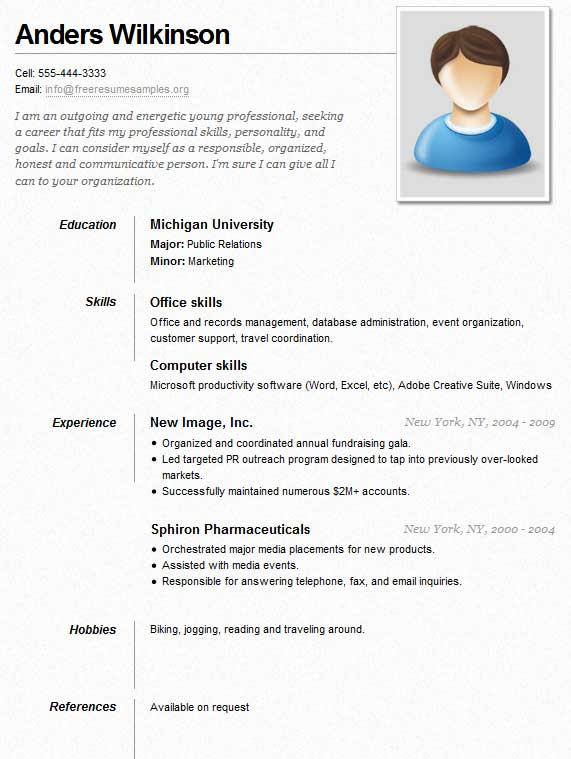 sample resume for job resumes professional executive administrative assistant office Resume Young Professional Resume