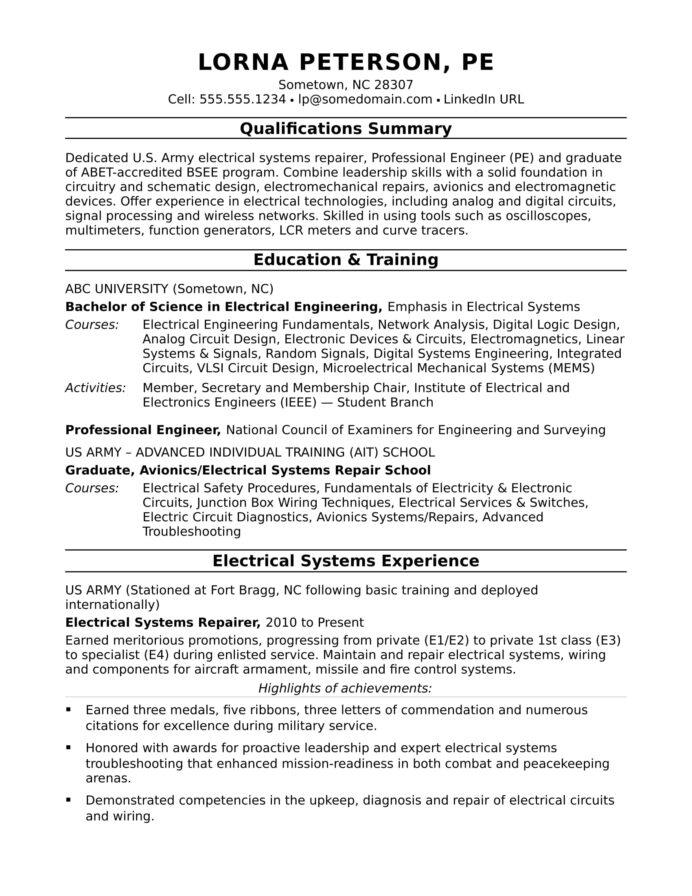 sample resume for midlevel electrical engineer monster professional editorial assistant Resume Professional Engineer Resume Sample