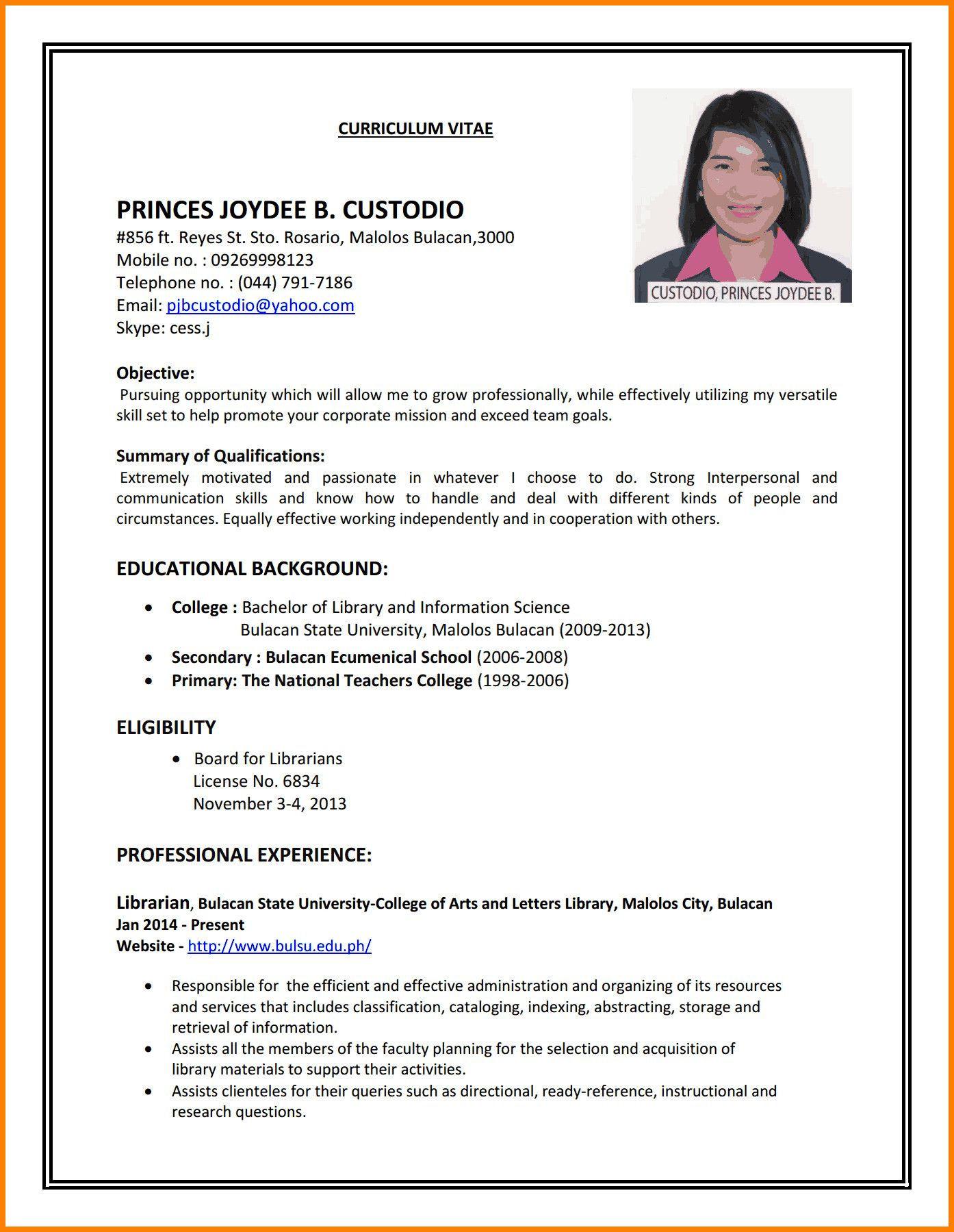 sample resumes first time job seekers attractive to write cv for part resum resume Resume Resume Templates For First Time Jobseekers
