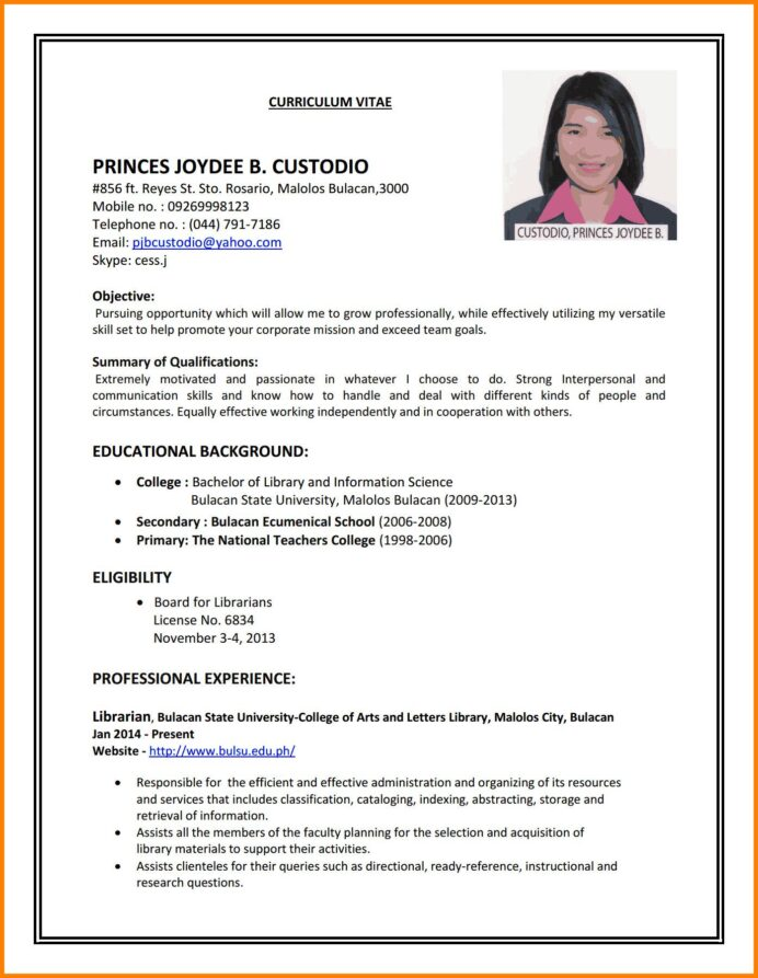 sample resumes first time job seekers attractive to write cv for part resume examples Resume Resume Templates First Time Job Seeker