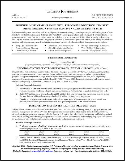 sample telecommunications executive resume professional samples your pitch word templates Resume Telecommunications Resume