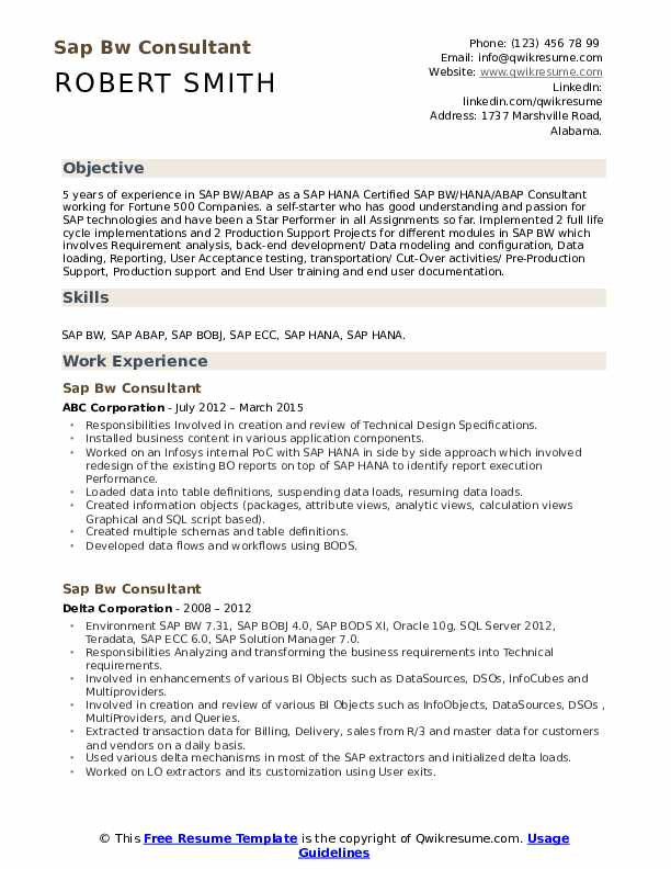sap bw consultant resume samples qwikresume hana for years experience pdf all caps civil Resume Sap Hana Resume For 3 Years Experience