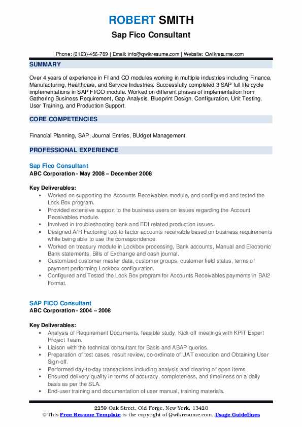 sap fico consultant resume samples qwikresume sample for years experience pdf software Resume Sample Resume For 3 Years Experience