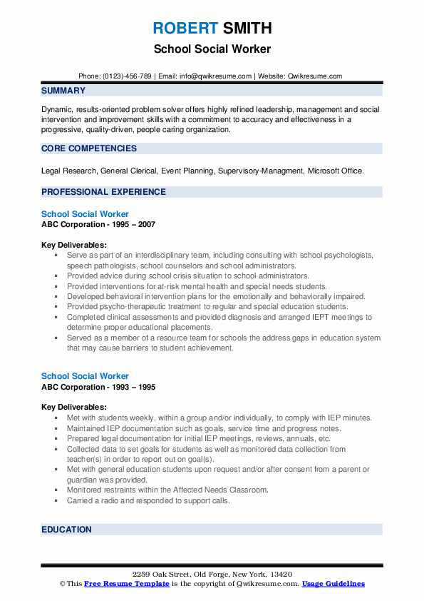 school social worker resume samples qwikresume summary pdf daycare provider for factory Resume Social Worker Resume Summary
