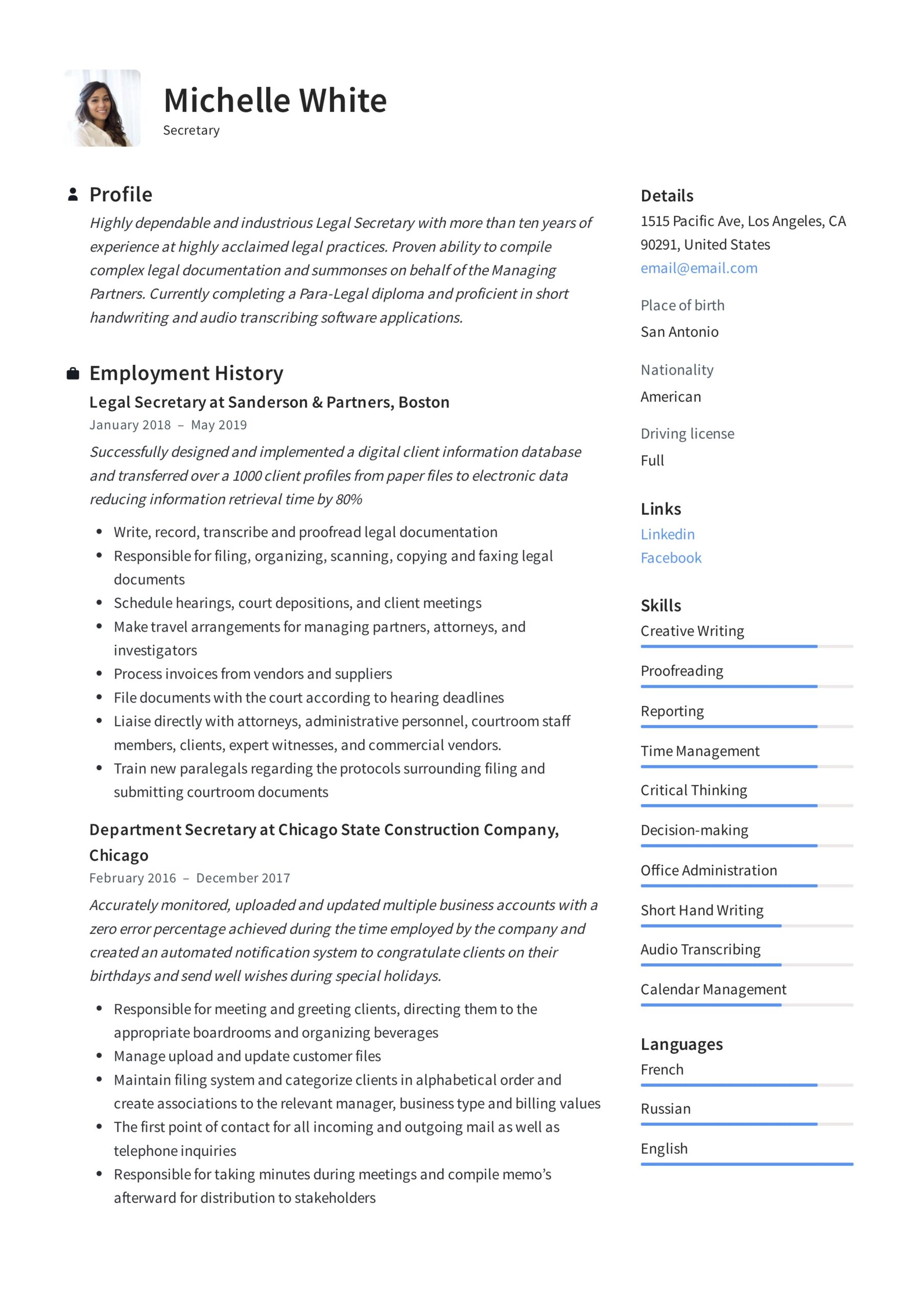 secretary resume writing guide template samples pdf insurance assistant brand manager Resume Insurance Secretary Resume
