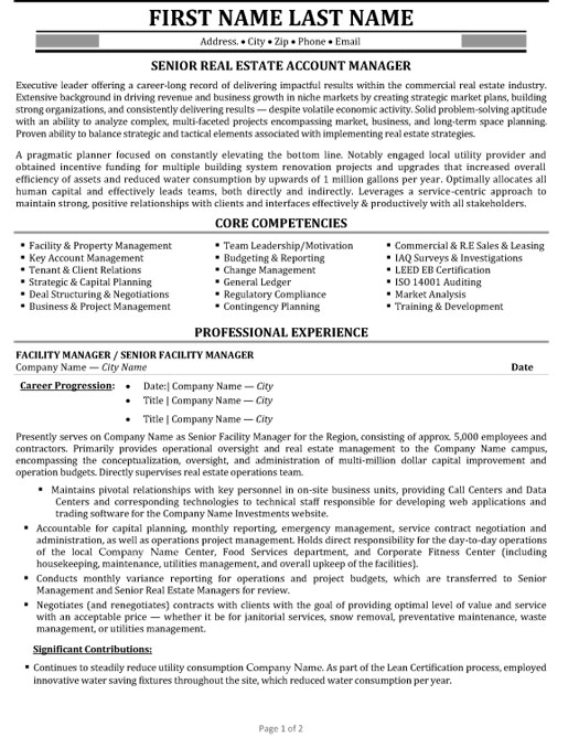 senior account manager resume sample template estate examples college freshman making for Resume Account Manager Resume Sample
