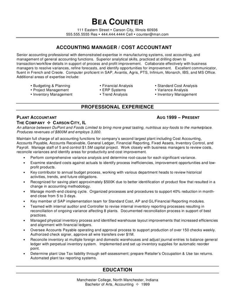 senior accountant resume sample job accounting objective statement examples district Resume Senior Accountant Resume
