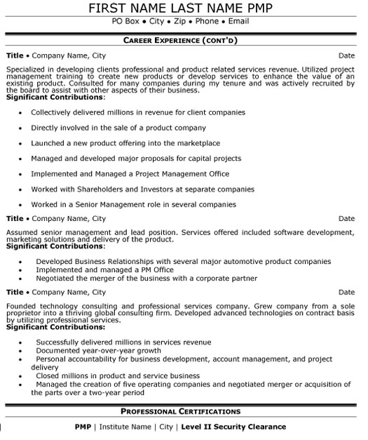 senior manager resume sample template for management position mg executive p2 college the Resume Resume For Manager Position