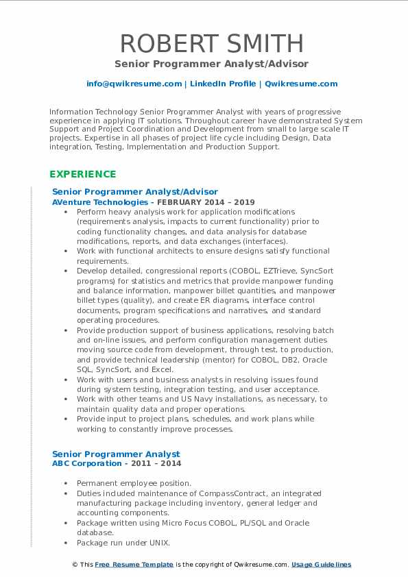 senior programmer analyst resume samples qwikresume sample pdf professional design ideas Resume Programmer Analyst Resume Sample