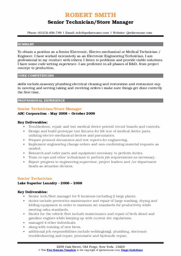 senior technician resume samples qwikresume pdf template email for sending impressive Resume Senior Technician Resume