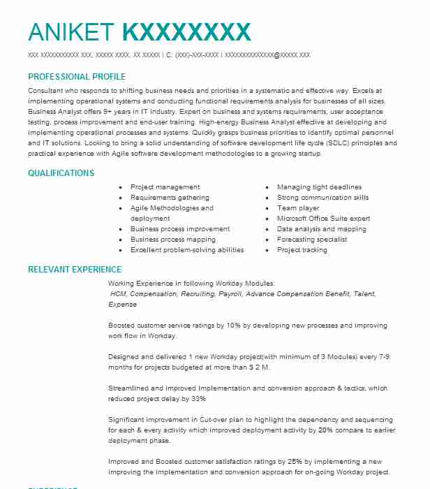 senior workday consultant resume example company name waukegan template preferred format Resume Workday Resume Template