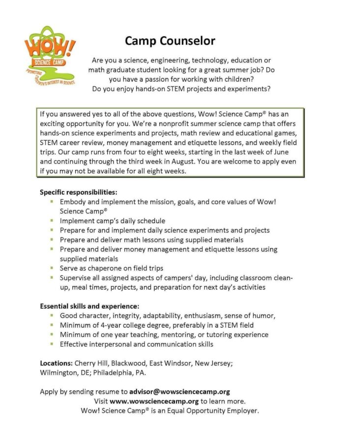 server experience resume examples best templates for students references example Resume Resume For Summer Camp Job