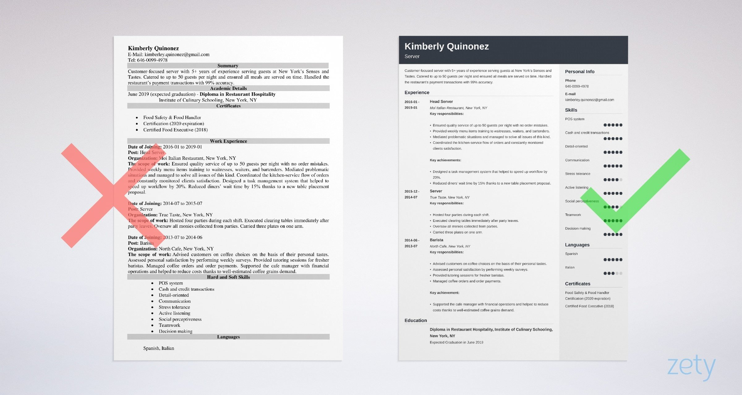 server resume examples guide tips summary for example cover letter civil engineer revenue Resume Resume Summary Examples For Server