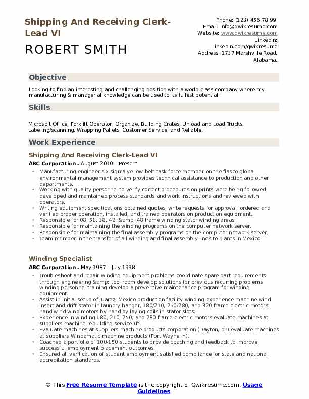 shipping and receiving clerk resume samples qwikresume duties for pdf redesign senior Resume Receiving Clerk Duties For A Resume