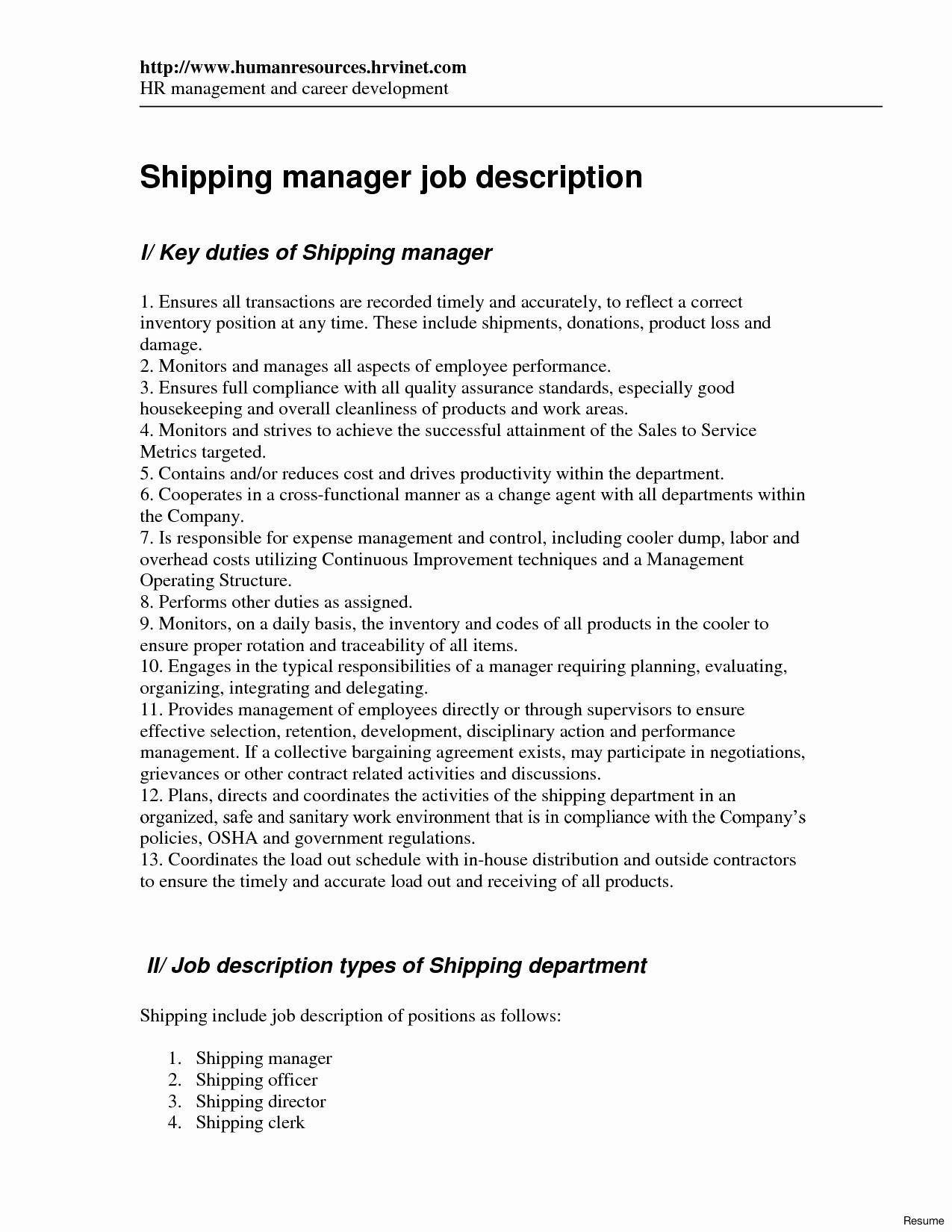 shipping and receiving clerk resume unique job description for examples folder duties Resume Receiving Clerk Duties For A Resume