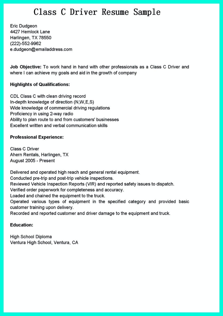 simple but serious mistake in making cdl driver resume hvac skills graduate assistant Resume Cdl Class A Resume
