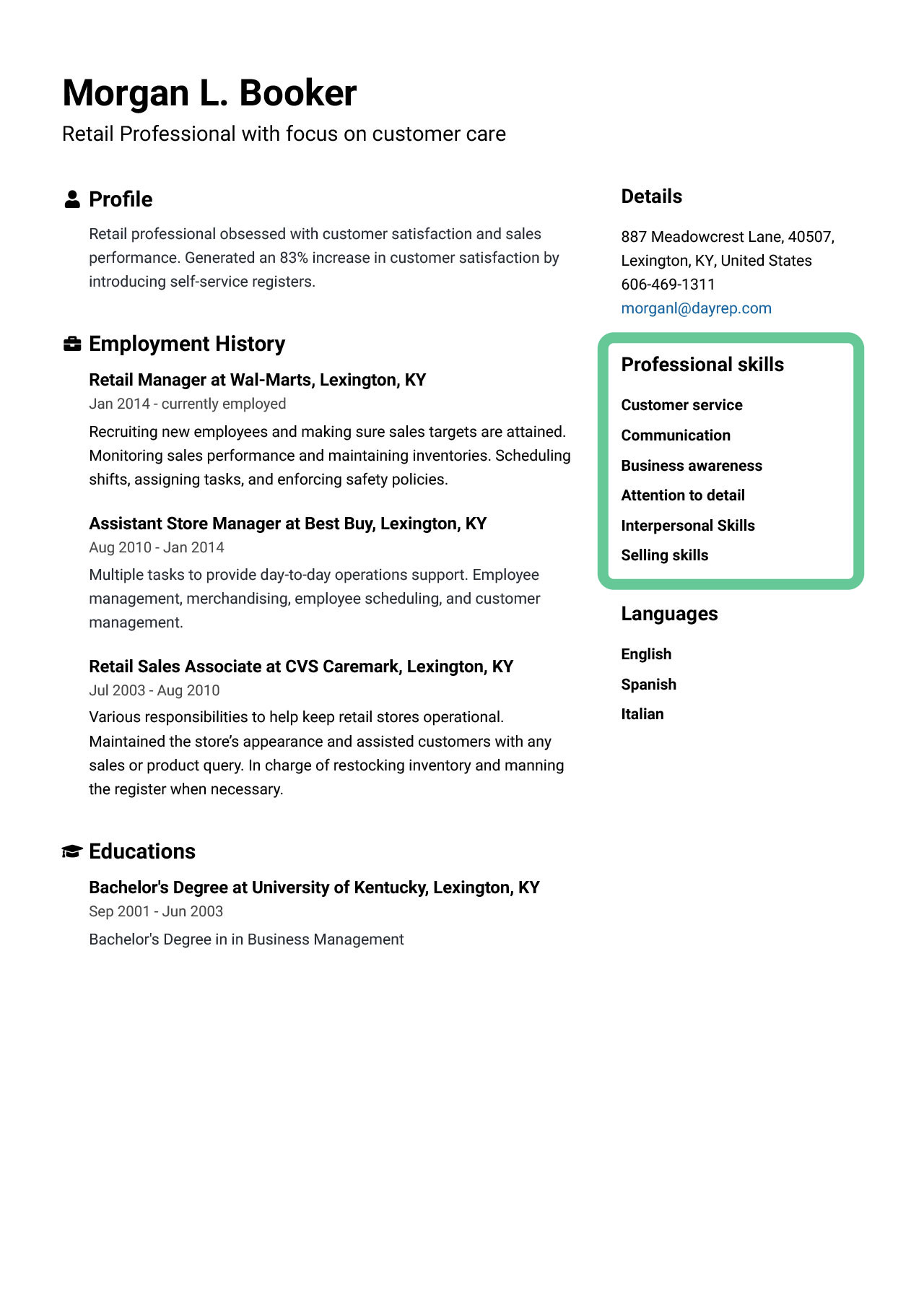 skills for resume best of examples to jofibo on customer service right side highlighted Resume Skills To List On Resume For Customer Service