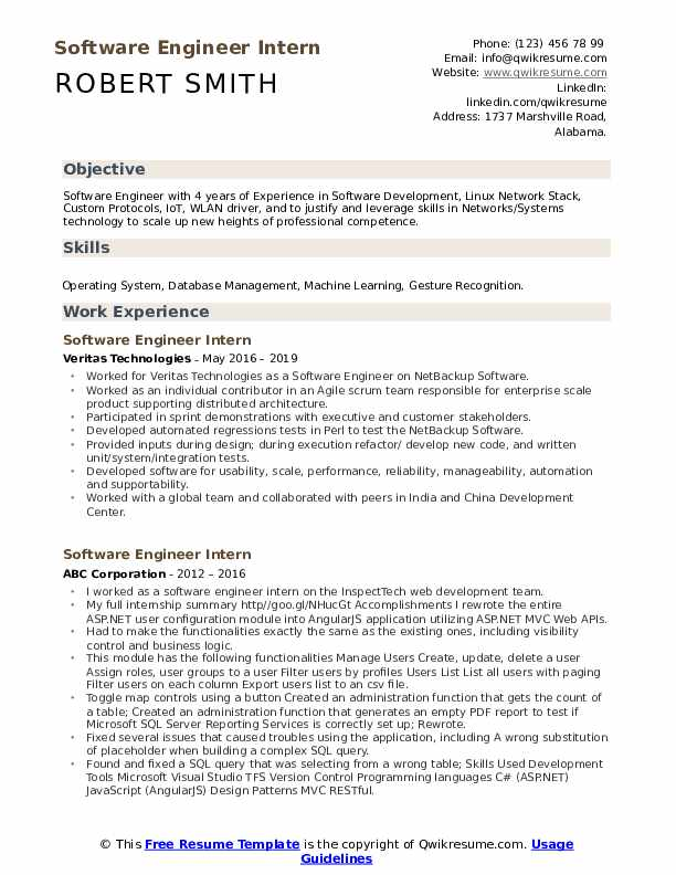 software engineer intern resume samples qwikresume work experience pdf apple history Resume Software Engineer Work Experience Resume