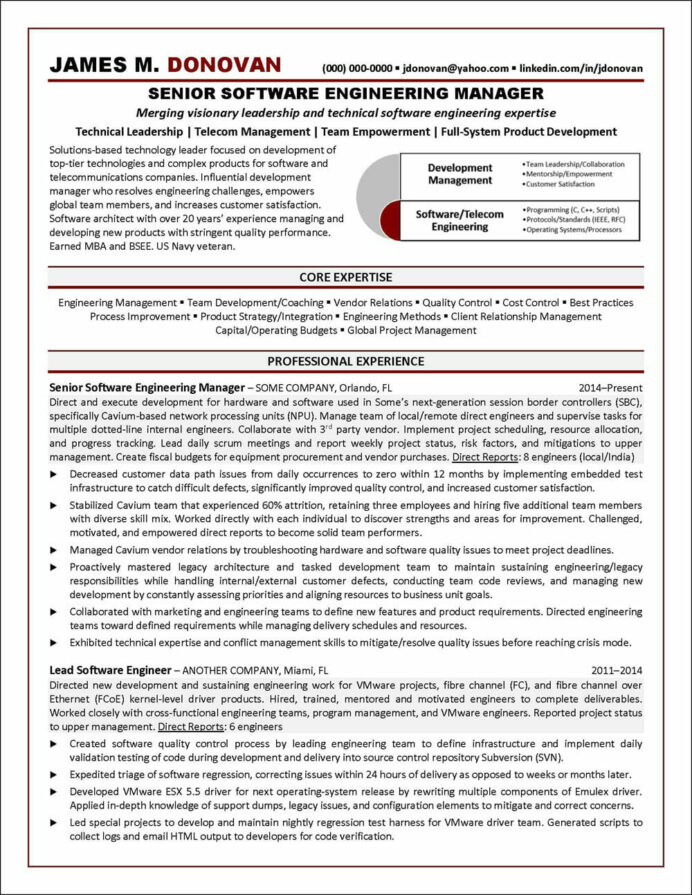 software engineer resume example distinctive career services engineering manager best Resume Resume For Ex Servicemen Indian Army