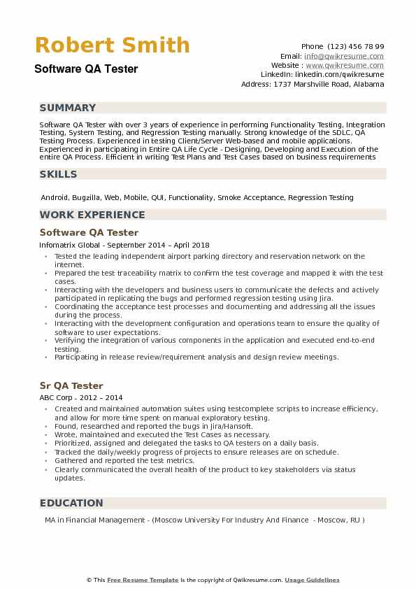 software qa tester resume samples qwikresume sample pdf winway deluxe review combination Resume Software Tester Resume Sample