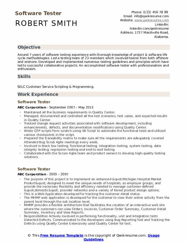 software tester resume samples qwikresume sample pdf controller examples combination Resume Software Tester Resume Sample