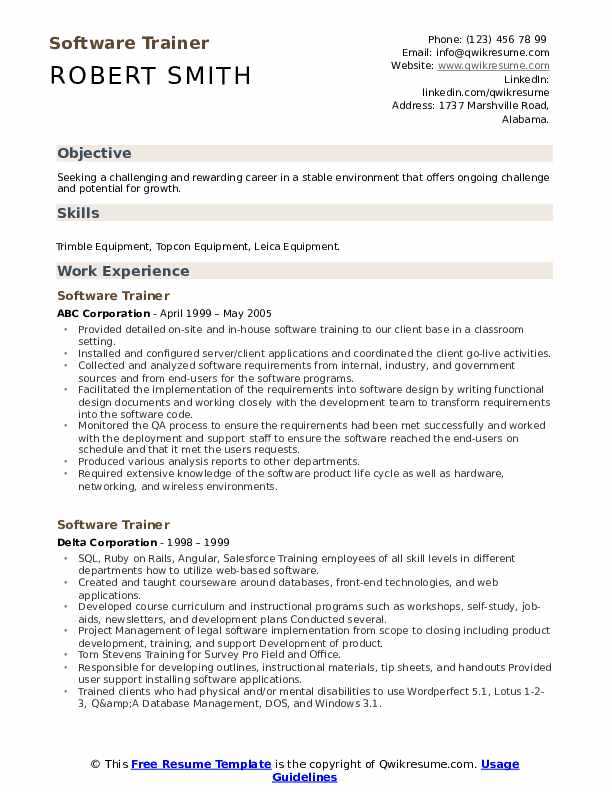 software trainer resume samples qwikresume computer programs for pdf examples restaurant Resume Computer Software Programs For Resume