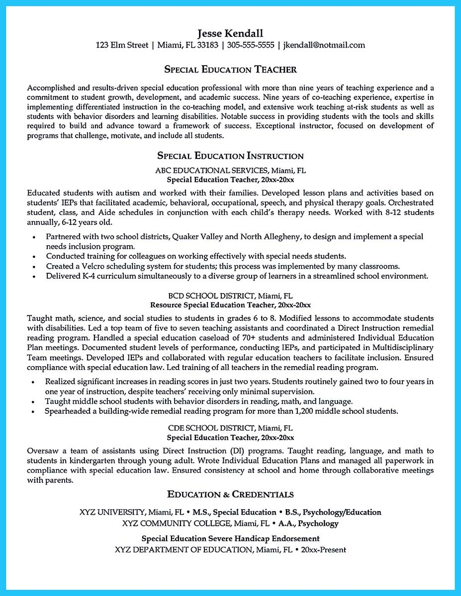 special education teacher resume examples line 17qq sample bjioehhbibz for army soldier Resume Sample Special Education Teacher Resume