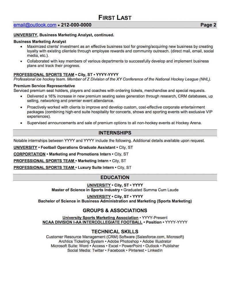 sports and coaching resume sample professional examples topresume fitness page2 social Resume Professional Coaching Resume