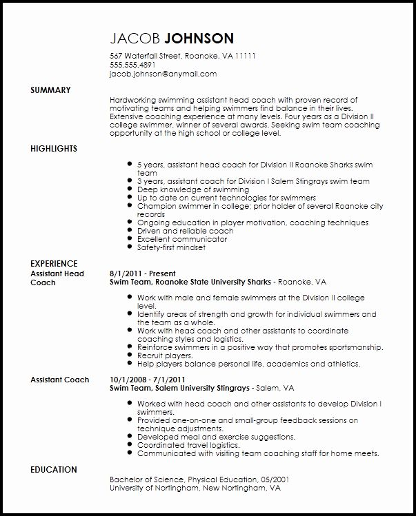 sports resume for coaching luxury free professional coach template job examples cost Resume Professional Coaching Resume
