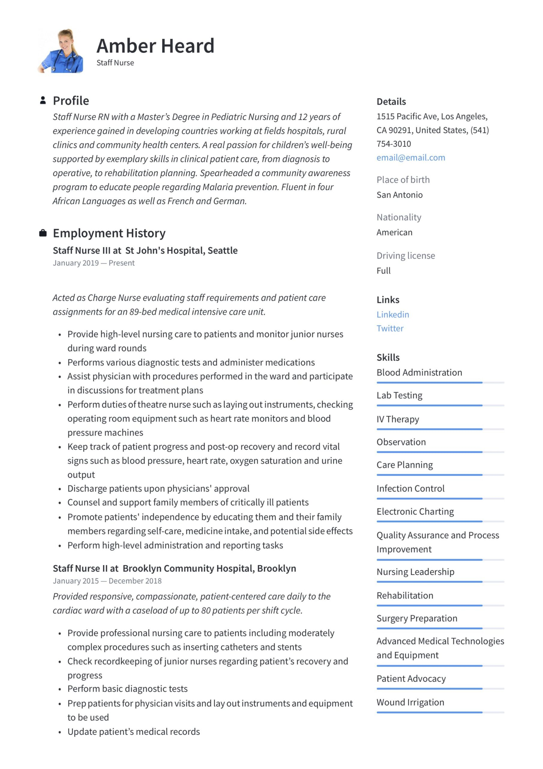 staff nurse resume writing guide templates in pdf format nursing goals and objectives for Resume Nursing Goals And Objectives For Resume