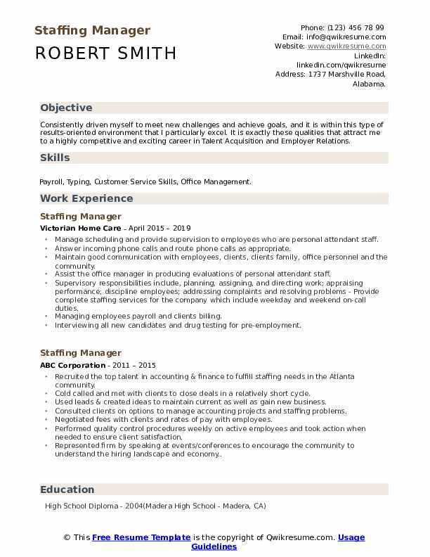 staffing manager resume samples qwikresume results driven example pdf police cover letter Resume Results Driven Resume Example