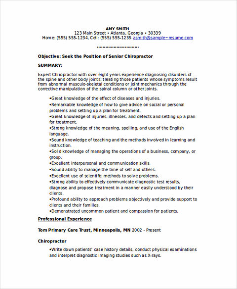 state good and clear objectives in chiropractic assistant resume sample template release Resume Chiropractic Assistant Resume