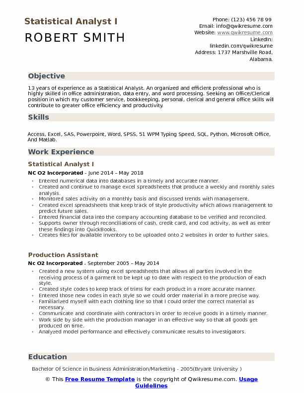 statistical analyst resume samples qwikresume skills pdf good college examples Resume Statistical Skills Resume