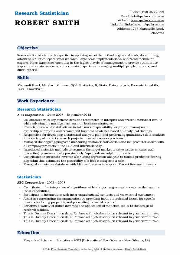 statistician resume samples qwikresume statistical skills pdf fundraising objective Resume Statistical Skills Resume