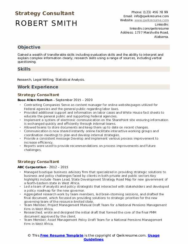 strategy consultant resume samples qwikresume pdf job builder housekeeping skills sample Resume Strategy Consultant Resume