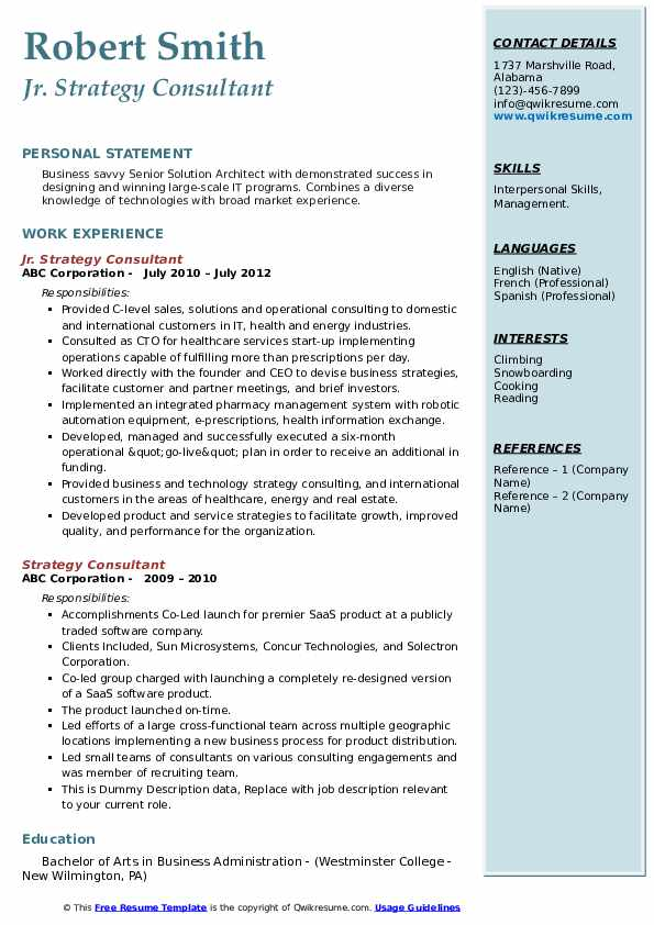strategy consultant resume samples qwikresume pdf microsoft word template copy and paste Resume Strategy Consultant Resume