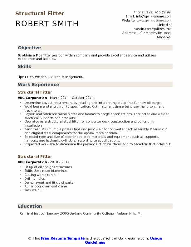structural fitter resume samples qwikresume fabrication pdf great formats safety Resume Fabrication Fitter Resume