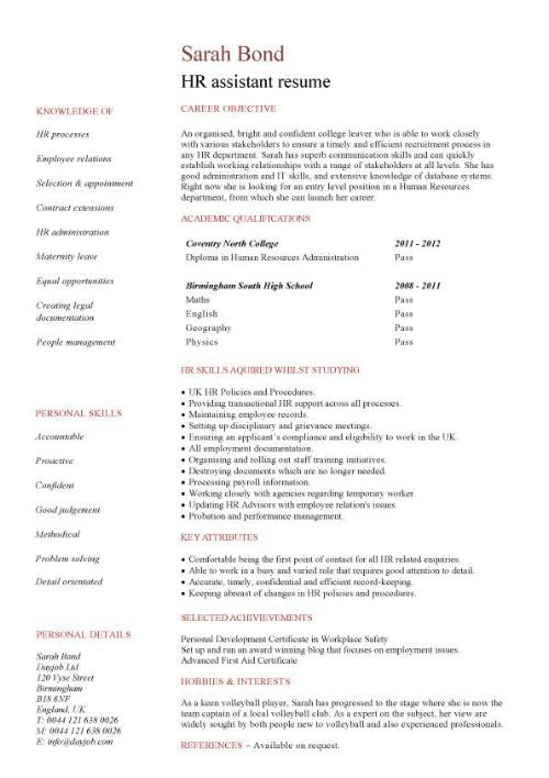 student entry level hr assistant resume template no experience pic ideal length buzz Resume Entry Level Resume No Experience