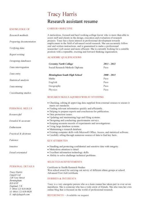student entry level research assistant resume template pic millennial format modern Resume Research Assistant Resume