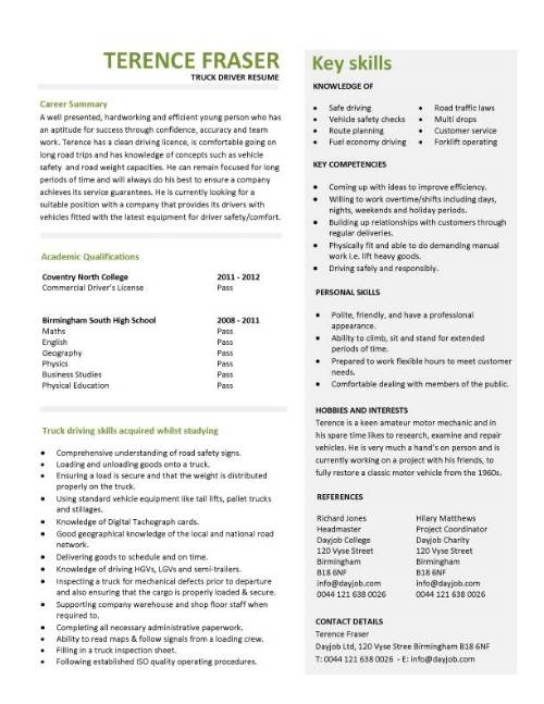 student entry level truck driver resume template for cdl pic general contractor job Resume Resume Template For Cdl Truck Driver