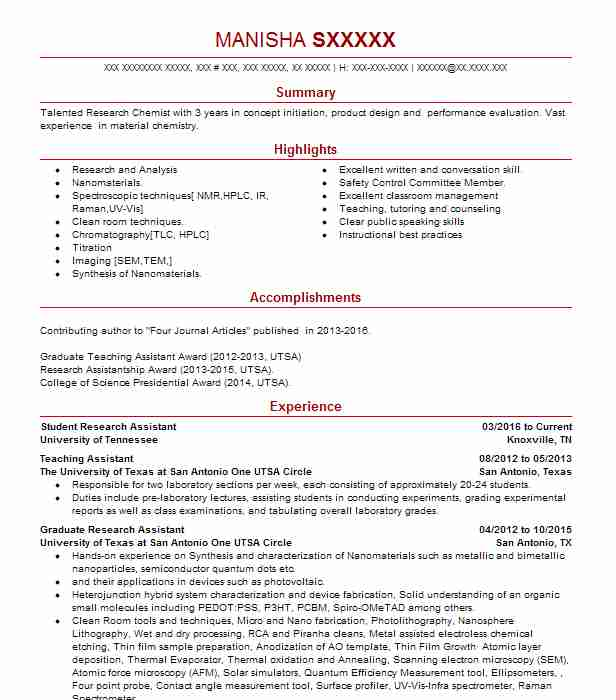 student research assistant resume example livecareer objective for management position Resume Research Assistant Resume