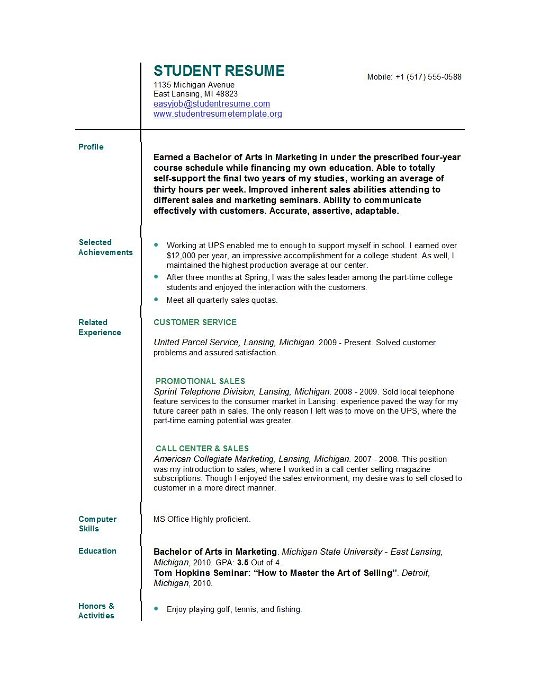 student resume templates easyjob free builder for college students secretary format heavy Resume Free Resume Builder For College Students