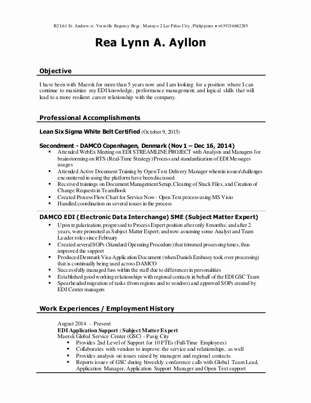 subject matter expert resume unique elfaro of cma candidate daycare worker infographic Resume Subject Matter Expert Resume