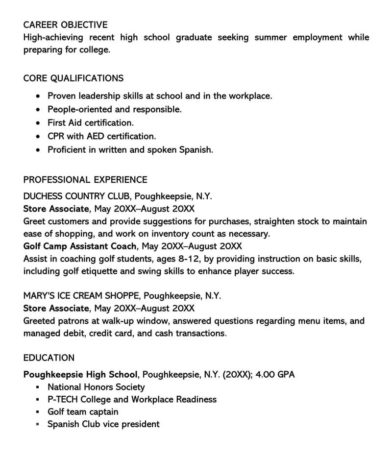 summer job cover letter example writing tips resume for applicants sample employement Resume Resume For Summer Job Applicants