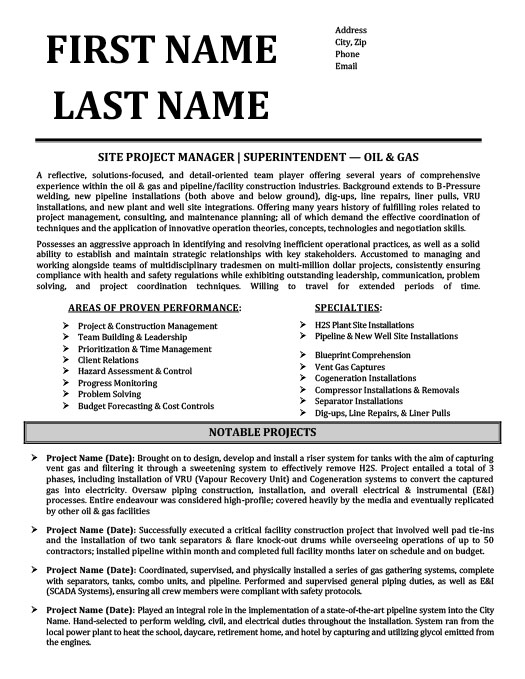 superintendent oil gas resume template premium samples example city worker good summary Resume Oil & Gas Resume Samples