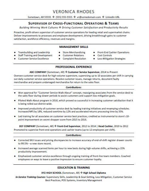 supervisor resume sample monster results driven example for permanent resident Resume Results Driven Resume Example